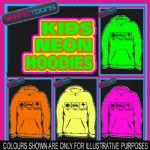 EAT SLEEP KANGAROO'S LOVE KANGAROO NEON  ELECTRIC KIDS CHILDS HOODIE HOODY